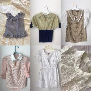 Tops - LOT OF SIX BLOUSES - all size sm/med